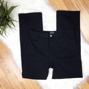 NYDJ Black Straight Leg Embellished Jeans Size 10